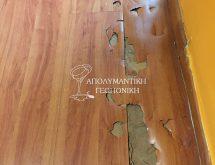 Ζημιές υπόγειων τερμιτών σε πάτωμα τύπου Laminate