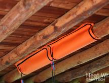 Εφαρμογή θερμικής καταπολέμησης σε ξύλινη στέγη