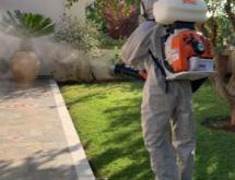 Εκνέφωση σε κήπο για κουνούπια