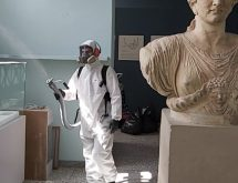 Μικροβιοκτονία κατά του κορονοϊού με τη χρήση ψυχρού εκνεφωτή σε μουσείο